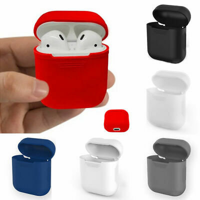 Silicone Etui Housse Coque Skin Case Cover Pr Apple AirPods Écouteurs Protection