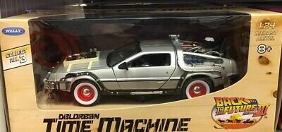 1:24 Back To The Future III Delorean Time Machine by Welly