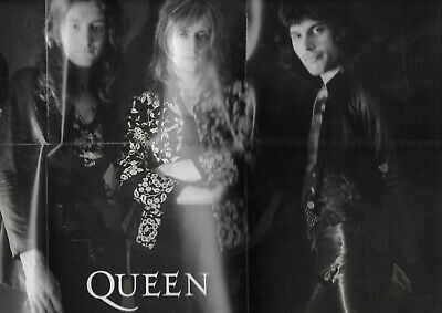 MINI POSTER - THE QUEEN : FREDDIE MERCURY BRIAN MAY / PETITE AFFICHE 40 x 24 cm