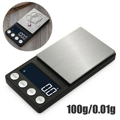 100g/0.01g Digital Pocket Scales Jewellery Electronic milligram micro mg