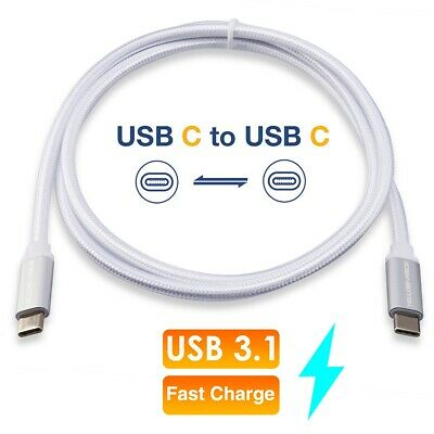 Thunderbolt 3 Compatible 3FT USB-C to USB-C 3.1 Cable For Macbook Andriod Phones