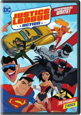 JUSTICE LEAGUE ACTION: SUPERPOWERS UNITE SSN 1 (Region 1 DVD,US Import,sealed.)