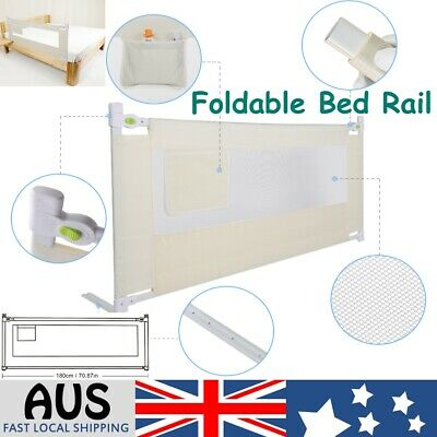 Greensen Bed Rail Portable Foldable Children Bed Rail White 180cm AU