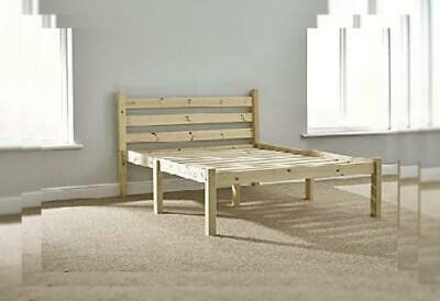 Double Pine Bed 4ft 6 HEAVY DUTY Wooden Frame with extra wide base slats and...