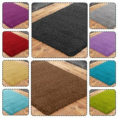 Shaggy Rug 5cm High Pile Thick Soft Living Room Floor Bedroom Central Carpet New