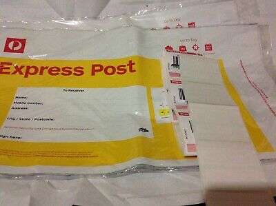 Brand new 20 x 1kg Prepaid Express Post Satchels + extra 20 Free tracking labels