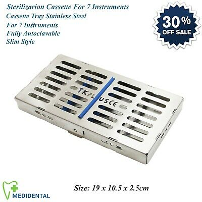 Dental Surgical Sterilization Cassette Slim For 7 Instruments Autoclave Tray NEW