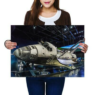A2 | Space Shuttle Atlantis - Size A2 Poster Print Photo Art Student Gift #2161