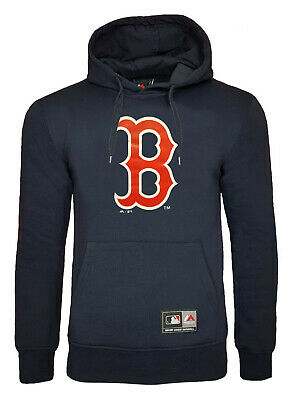 Majestic Boston Red Sox Hoodie Mens S XL Official MLB Hooded Top Baseball Jersey