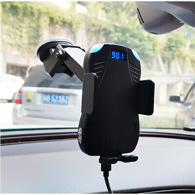 Car Intelligent Qi Wireless Charger Mount Fast 3 in 1 Wireless Bluetooth Charger