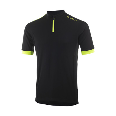Comfort Fit Perugia Yellow Cycling Jersey Short Sleeve Men 1//2 Zipper