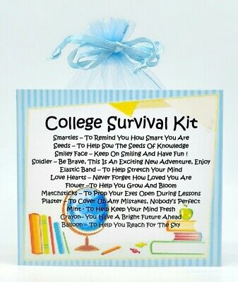 College Survival Kit Unique Fun Novelty Good Luck Gift /& Card All In One