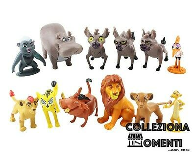 Personaggi film il Re Leone Set 12 Statuette Action Figure Simba