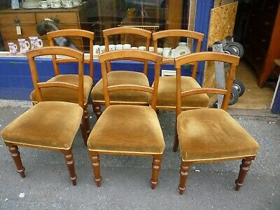 Nice Set Of Six Good Looking Antique Victorian Mahogany Dining Chairs