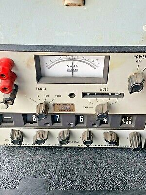 John Fluke Model 895A Differential Voltmeter ( Untested Unit)