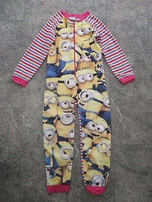 BHS Girls Minions All In One Piece Pyjama Night Wear - For Ages 9-10 Years