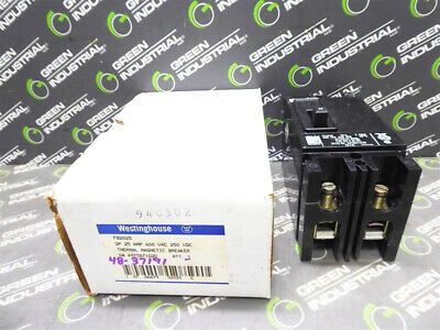 NEW Westinghouse FB2025 2 Pole Circuit Breaker 25 Amps 600VAC