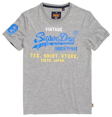 Details about Superdry Womens Tokyo Brand Navy Blue T Shirt Size XXS Size 6 BNWT