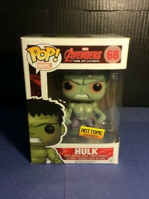 Funko POP HULK 68 Rampaging Hot Topic Avengers Age of Ultron Marvel - VAULTED
