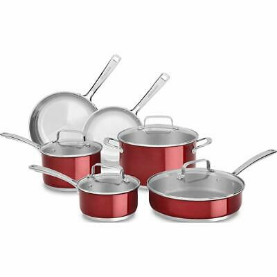 KitchenAid Cookware SS 10pc Candy Apple
