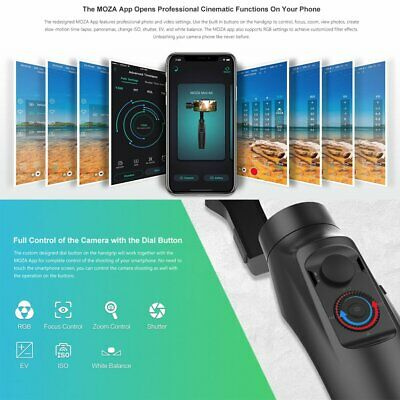 Moza MINI-MI 3-Axis handheld Gimbal stabilizer Wireless charge for Smartphone