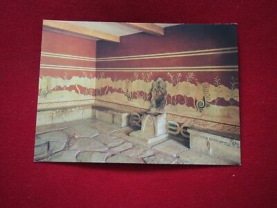 Vintage Postcard - Cnossos, Throne Room