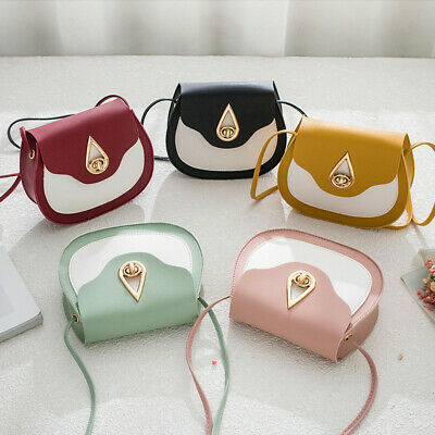 Water Drop-shaped Buckle Mini PU Leather Crossbody Bag Shoulder Bag Purse Pouch