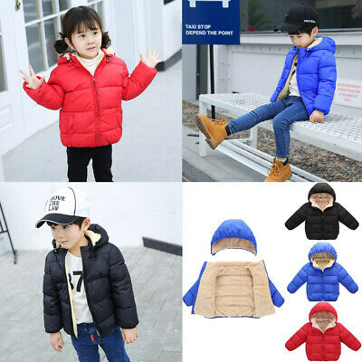 Child Baby Girl Boy Winter Hooded Coat Cloak Jacket Thick Warm Outerwear Clothes