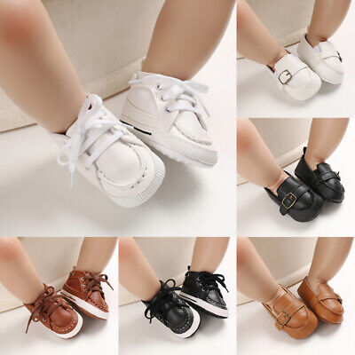 Baby Newborn Soft Crib Sole Leather Shoes Girl Boy Kid Toddler Prewalker Shoes