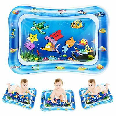 Inflatable Water Play Mat Infants Newborn Baby Toddlers Kid Fun Tummy Time Play
