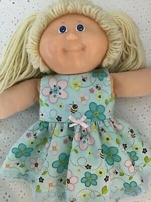 """Handmade Dolls clothes ~ 43cm Baby Born ~ 16"""" CPK ~ Blue floral dress with Bees"""