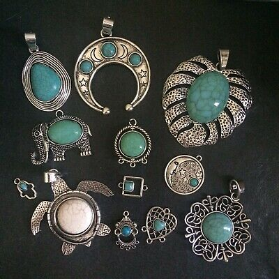 Turquoise Pendants, Connectors Or Charms  Choice of styles