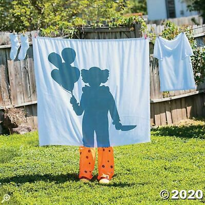 Halloween Props Decorations Scary Clown Silhouette Laundry Line, Yard/Outdoor