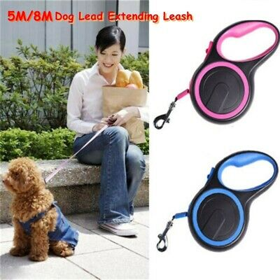 3M/5M Durable Retractable Dog Lead Extending Leash Nylon Tape Cord Traction Rope