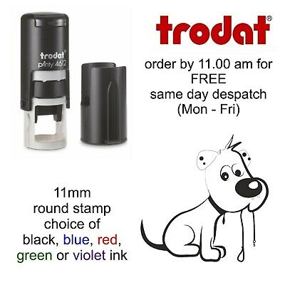 Dog image Loyalty Card Stamp Self Inking rubber veterinary groomers kennels vets