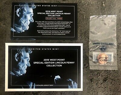 USA 2019 W Lincoln Cent WEST POINT Selten Sonderprägung mit OVP&Zertifikat PROOF