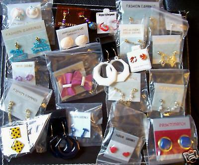 Job lot vintage earrings - 10 pairs