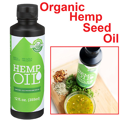 Organic Hemp Seed Extract Anxiety Pain Relief Joint Support Sleep Aid 12 Fl Oz