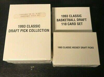 3-1993 Factory Sealed Classic Draft Pick Collection Box setS