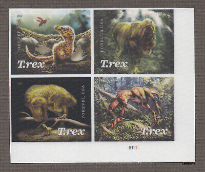 *NEW* 2019 Tyrannosaurus Rex (Plate Block of 4) 2019 Mint NH *In Stock*