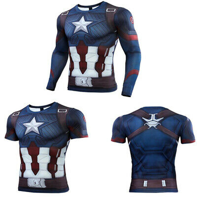 New Mens Compression Tight Base Layer Tops T-Shirts Sport Gym Long Short Sleeves