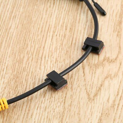 100 pcs Adhesive Cable Clips Wire Clamps Car Cable Organizer Cord Tie Holder AL