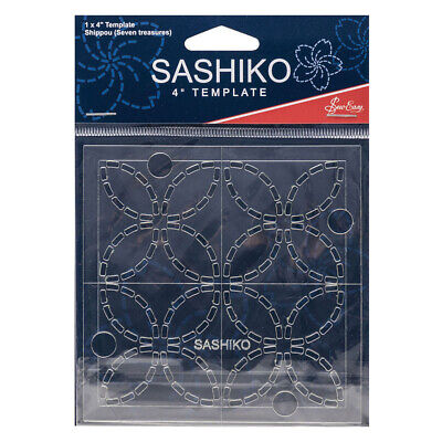 "Quilting Patchwork Sewing SASHIKO SEVEN TREASURES Template 4"" New"