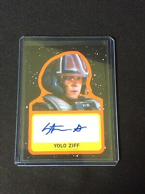 Topps Star Wars Journey To The Last Jedi Orange Auto Yolo Ziff 18/25 (LT461