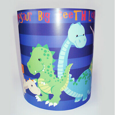 Dinosaur Light Shade - Blue Stripe