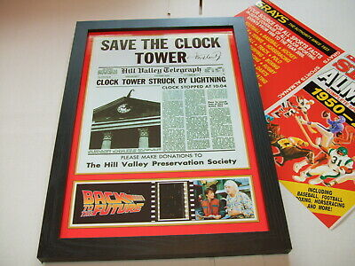 Back To The Future    Film Cell Framed+Free Almanac 12