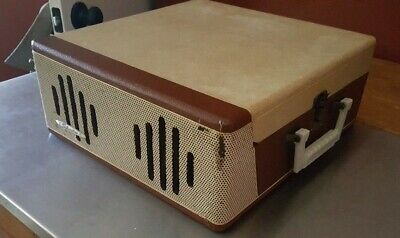Silvertone 7234 Dual Speakers 4 Speed 1957 Vintage Record Player