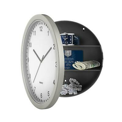 Wall Clock with Safety Hidden Storage Security Home Office Room Cash Jewelry NEW