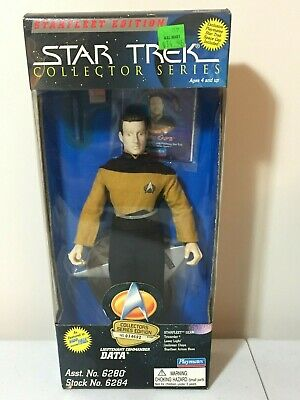 Star Trek Data Lt Commander Starfleet Ed Collector Series Playmates Nrfb Toy