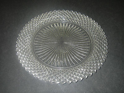 "Anchor Hocking Glass MISS AMERICA Clear Salad Plate 8"" 1935-38 Depression."